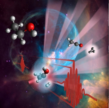The trihydrogen cation, H3+, plays a major role in interstellar chemistry where it facilitates the formation of water and organic molecules. Researchers have discovered how the cation forms when organic molecules are excited by an intense laser pulse.