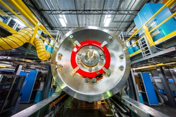 TAE Technologies' fusion device Norman, named for late company co-founder Norman Rostoker. Norman combines plasma physics and accelerator physics with the aim to produce renewable energy for the electric grid  and commercial applications.