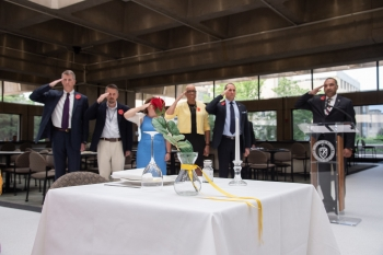 EnergyVets resource group perform the Fallen Comrade Table ceremony
