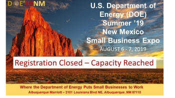 DOE 2019 New Mexico Text Logo with Registration Closed Banner
