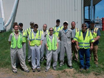 The EM West Valley Demonstration Project (WVDP) team that developed the conveyor system for asbestos removal.
