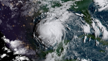 This is a picture of a hurricane