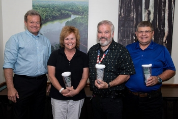 From left, Savannah River Nuclear Solutions Executive Vice President and Chief Operations Officer Dennis Carr with Savannah River Site CPR and first aid trainers Dr. Lisa Sanders, Kevin O'Donnell, and John Raeth.