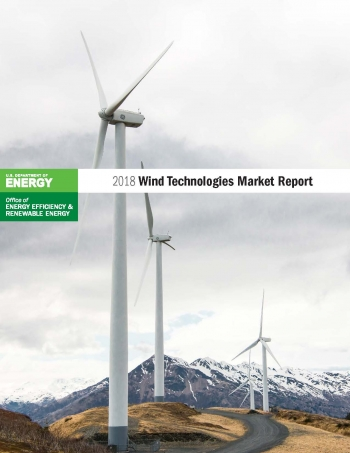 Cover of the 2018 Wind Technologies Market Report.