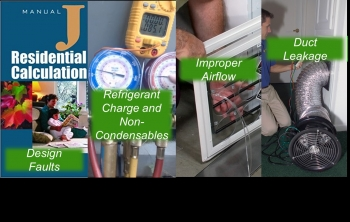 A collage of different images showing installation of duct systems.