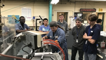 Bay Area students got an up-close look at the many milling and welding machines, lathes and precision tools used at Lawrence Livermore National Laboratory during a Manufacturing Workshop aimed specifically at high school students.