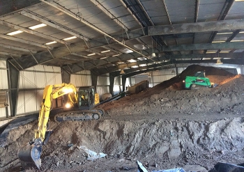 Equipment removes more than 4,000 cubic yards of soil for disposal from an Oak Ridge Site facility where it had been stored since 1989.