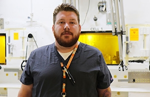 Eric Glenn, a radiological control technician with Isotek, used his training to help save a life on his lunch break.