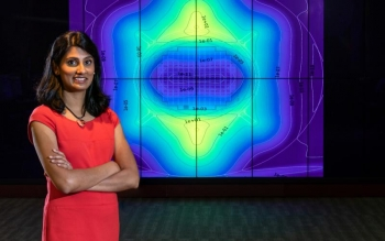 Eva Davidson, a nuclear engineer at Oak Ridge National Laboratory, is developing modeling and simulation techniques for current and future nuclear reactors.