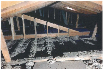 Before and After Removal of Vermiculite Insulation