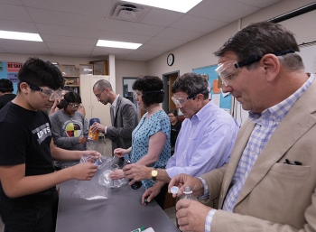 A stakeholder joined DOE federal and contractor employees to promote STEM to