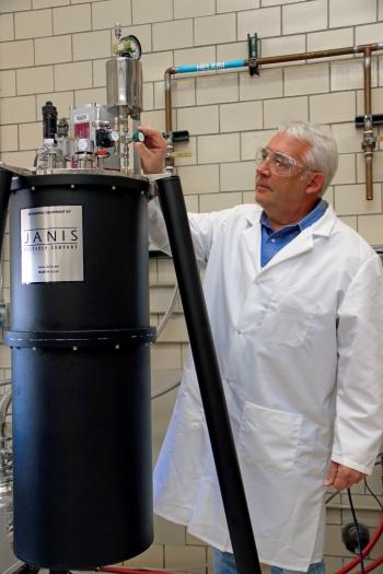 Dr. Vitalij Pecharsky works at Ames National Laboratory