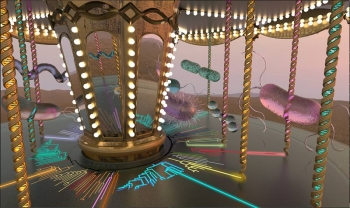 Microbial Merry-Go-Round.  In this metaphorical carousel, the velocity of each bacterial cell indicates its relative growth rate. New data indicate that this metaphor applies over a range of ecosystems, from high desert grassland to subalpine prairie.