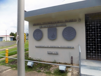 Entrance of the Modesto Iriarte Technology Museum, BONUS, Rincon, Puerto Rico.