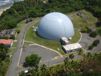 Aerial view of the Modesto Iriarte Technology Museum and BONUS Reactor, Rincon, Puerto Rico.
