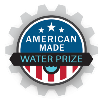"""logo that says """"american made water prize"""""""