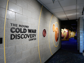 Mound Cold War Discovery Center Entrance Sign, Mound, Ohio.