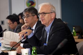 The meeting was led by NNSA Associate Principal Deputy Administrator David Huizenga, right, and Ambassador Koji Kano of the Ministry of Foreign Affairs of Japan.