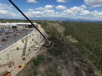 Soil cleanup near Smith's Marketplace in Los Alamos completed in 2015.