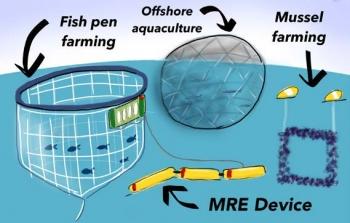 Graphic illustrating Offshore Marine Aquaculture.