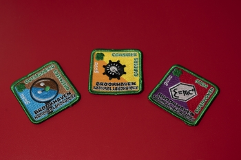 The three new Brookhaven Lab patches.
