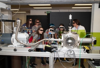 Participants in the LANL Summer Physics Camp for Young Women.