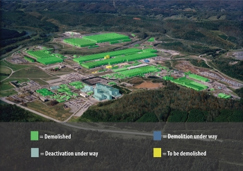 Oak Ridge's EM program is nearing its Vision 2020 goal, which involves completing all demolition and major cleanup at the East Tennessee Technology Park by the end of next year.