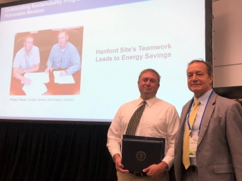 Hanford Site's Teamwork Leads to Energy Savings - Honorable Mention