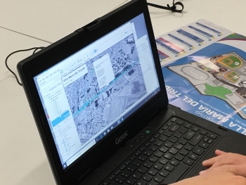 The mapping software used for the Pan American Games shows the data collected during mobile surveys of Lima.
