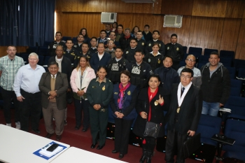 The group of first responders at the NNSA-led Major Public Event Refresher Training in Lima.