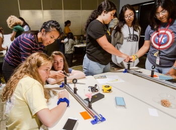 More than 40 high school students from across Northern California participated in the lab's SAGE-S camp, where they worked on team science projects and learned communication and leadership skils.