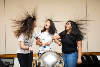 At the annual SAGE-S on-campus summer camp high school students experience life in STEM.