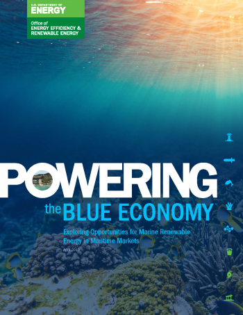 cover of the Powering the Blue Economy Report