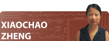 Xiachao Zheng is a professor at the University of Virginia, measuring parity violation in electron scattering.