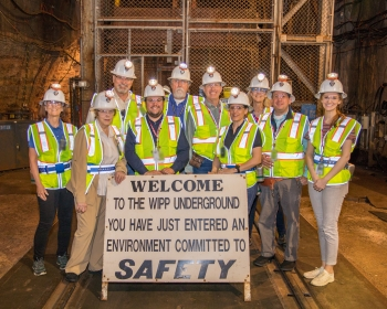 Members of the Environmental Management Advisory Board (EMAB) and federal staff and contractors tour the Waste Isolation Pilot Plant (WIPP) underground on April 25, 2019 during the EMAB Spring 2019 meeting.
