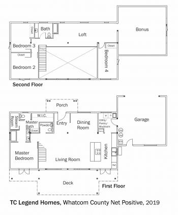 Floorplans: Whatcom County Net Positive by TC Legend Homes.