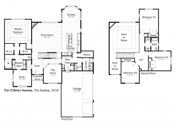 Floorplans: Azalea by Tim O'Brien Homes.