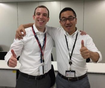 The NNSA/DOE liaison in the U.S. Embassy in Tokyo and Shinjiro Takeda, with Japan's Ministry of Economy, Trade, and Industry.