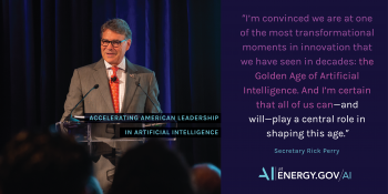 Secretary Quote: Golden Age of AI