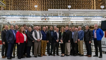 "Energy Secretary Rick Perry joined Under Secretary for Science Paul Dabbar, EM Senior Advisor Ike White, and the Hanford Site EM management team at the ""front face"" of the B Reactor National Historic Landmark last week."