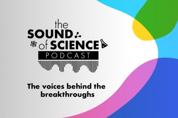 "Banner image for the Oak Ridge National Laboratory podcast, ""The Sound of Science"""