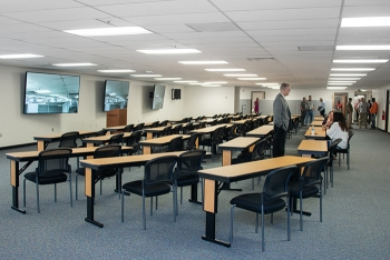 """Renovations to Building 703-47A consolidate the Savannah River Nuclear Solutions new employee onboarding process into a """"one-stop shop"""" with general employee training, badging, and medical testing all in one location."""