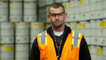 Nate Loftus arrived at the Advanced Mixed Waste Treatment Project just before it began operations. He will assist with the plant's eventual closure.