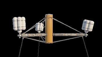 3D model illustrating SpiderFLOAT structure.