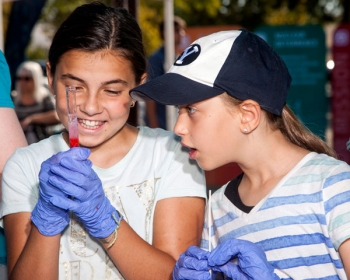 Family Day at Sandia in California drew over 2,000 attendees.