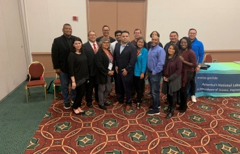 Staff from various National Laboratories and program offices conducted outreach at AISES in 2019.