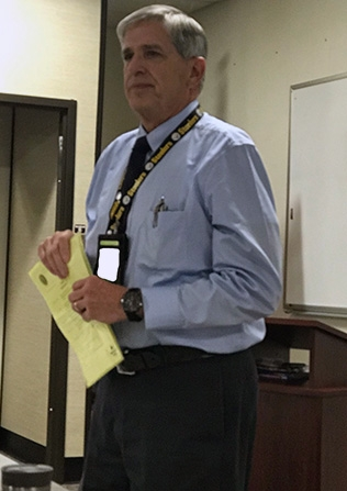 Fluor Idaho President Fred Hughes addresses participants in the EM IT Collaboration Meeting.