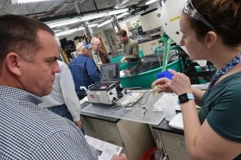 Oak Ridge Site Specific Advisory Board (ORSSAB) members tour the Aquatics Lab at Oak Ridge National Laboratory