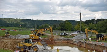 Oak Ridge crews remediate the K-1203 complex site after demolishing structures there.
