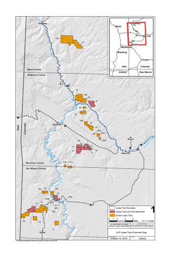 Uranium Leasing Program Tract Overview Map